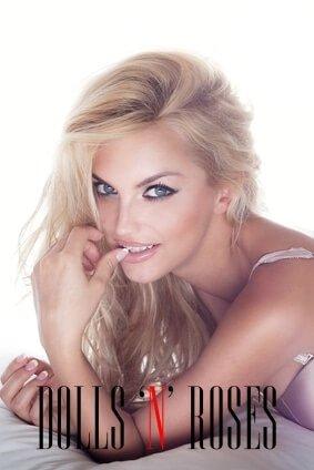 Portrait of beautiful sensual blonde woman looking at camera. Romantic girl
